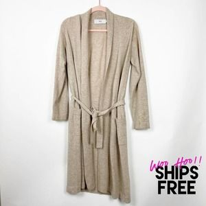 RH Cashmere Sweater Belted Duster Cardigan #0139